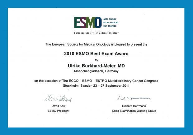 ESMO-Zertifikat